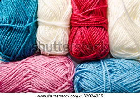 a lot of yarn as a background - stock photo