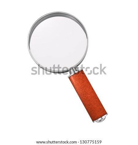 A loupe on the white background. 3d illustration. - stock photo