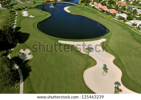 a lovely golf fairway in florida