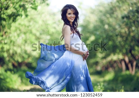 A lovely prospective mother - stock photo