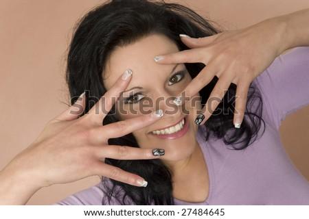 A lucky woman - stock photo