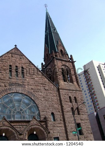 A Lutheran Church in St. Paul Minnesota - stock photo