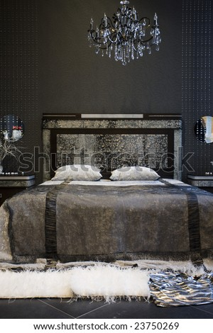 A luxurious bedroom - stock photo