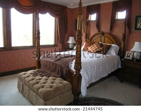 a luxury bedroom in hotel
