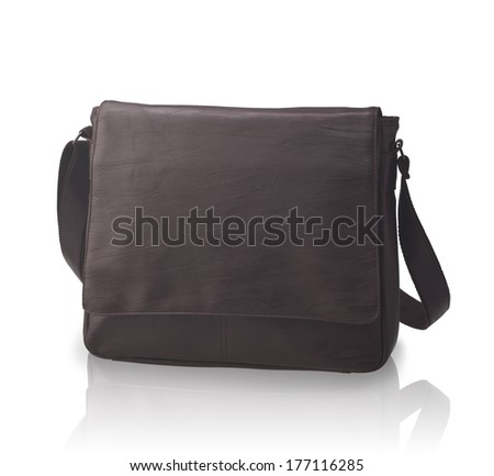 A luxury leather handbag or briefcase - stock photo