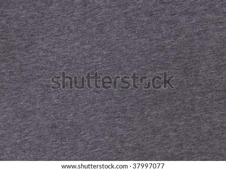 A macro shot of a gray T shirt - stock photo