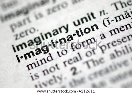"""A macro shot of the word """"Imagination"""" from the dictionary - stock photo"""