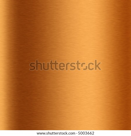 A macro view of brushed copper tube.