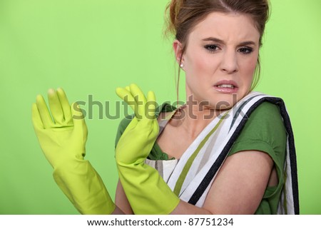 A made disgust by something. - stock photo