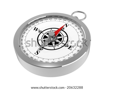 A magnetic compass - stock photo
