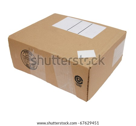 A mail box home isolated white - stock photo