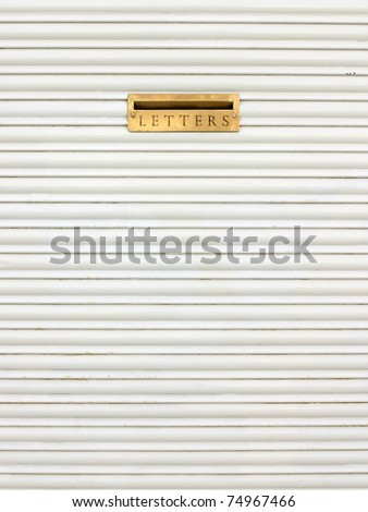 A mail gold slot - stock photo