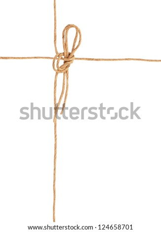 A mail knot wrapping on white
