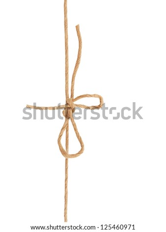 A mail knot wrapping on white - stock photo