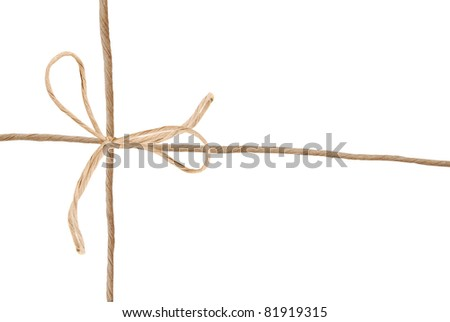 A mail rope over white paper