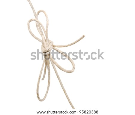 A mail string on white background