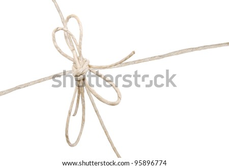 A mail string on wrapping white box