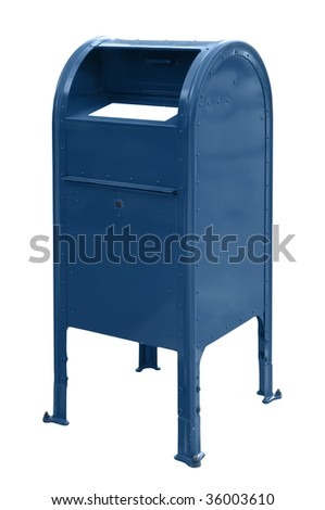 A mailbox isolated over a white background - stock photo