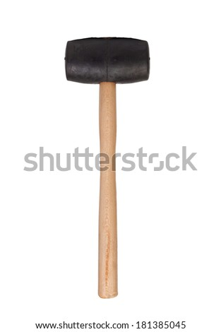 A mallet building tool isolated on white background