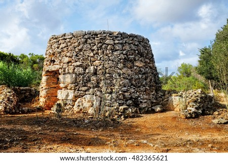 A Maltese Girna, a corbelled stone hut, found in the countryside, used in the past for shelters or livestock.