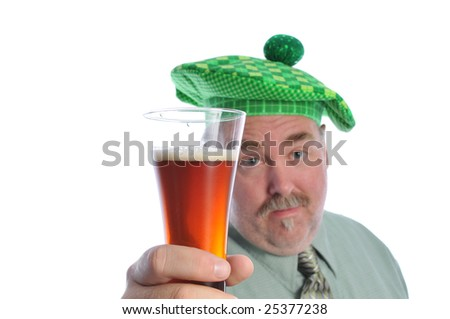 a man holding a beer in his hand - stock photo