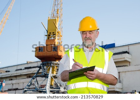 a man in a helmet in the port of records in the documents