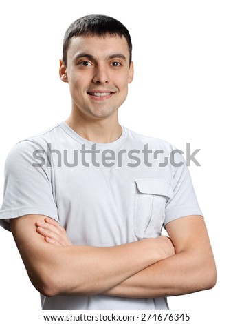 a man in a white T-shirt