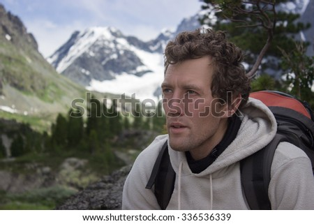 a man in the mountains