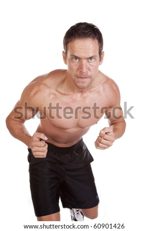 A man is working out. - stock photo