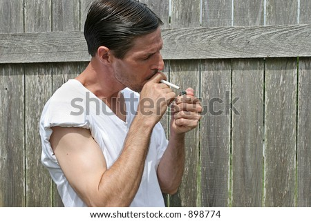 Man Lighting Cigarette Stock Photo 898774 - Shutterstock