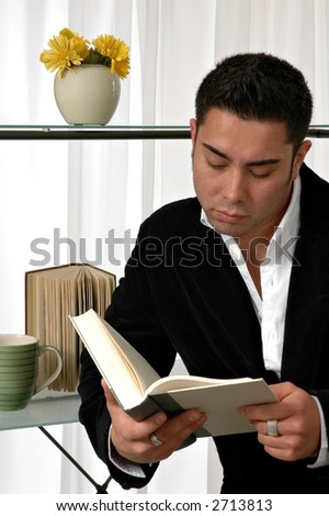A man reading a book
