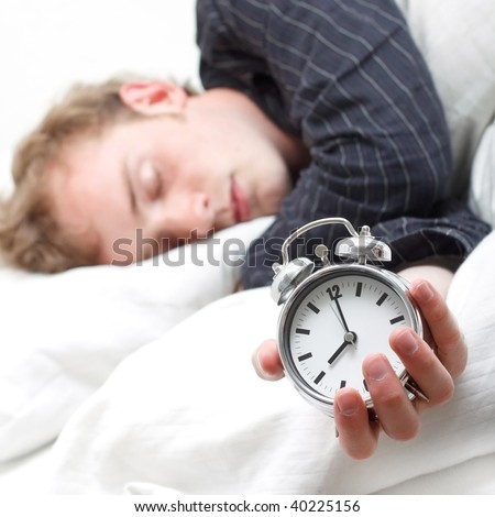 A man sleeping - stock photo