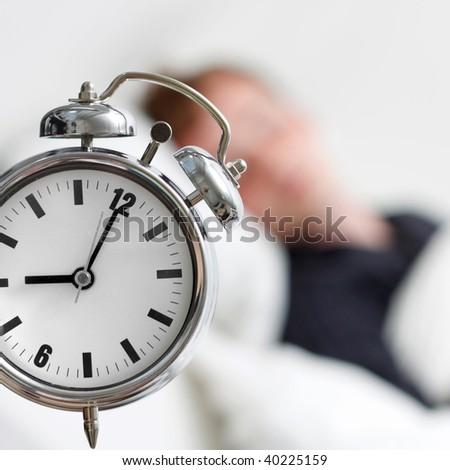 A man sleeping - stock photo