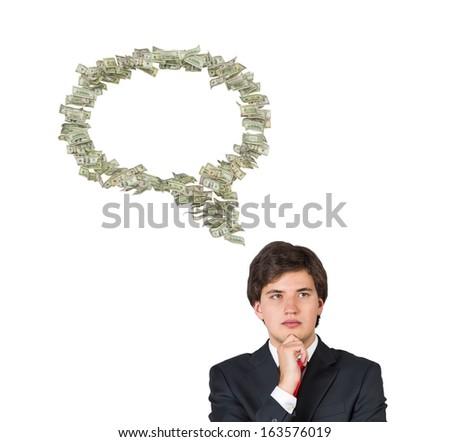 A man thinking of Money - stock photo
