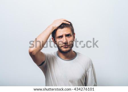 A man who made a mistake. - stock photo