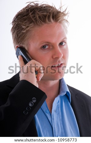 a man with a mobile phone