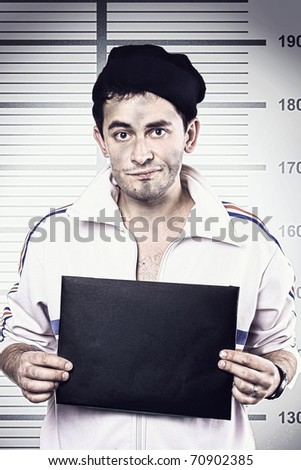 a man with a sign - stock photo