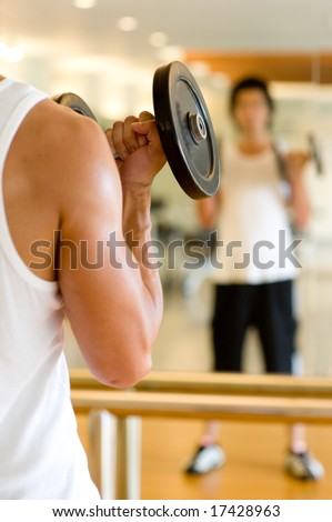 A man working out in the gym
