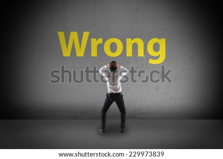 A man worried about his future - stock photo