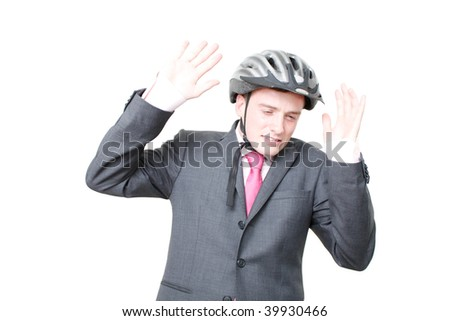 A man worried about what might happen - stock photo