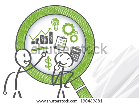 A management control system is a system which gathers and uses information to evaluate the performance of different organizational resources - stock photo