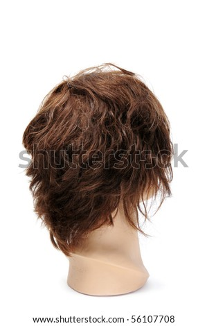 a mannequin head isolated on a white background - stock photo