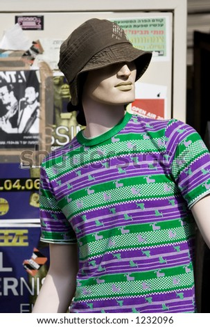 A mannequin wearing casual clothes