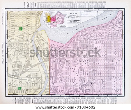Kansas City Map Stock Images RoyaltyFree Images Vectors - Kansas city on us map