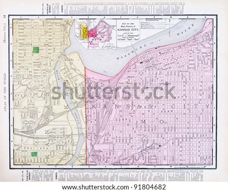Map Kansas City Kansas Kansas City Stock Photo Shutterstock - Map of kansas city
