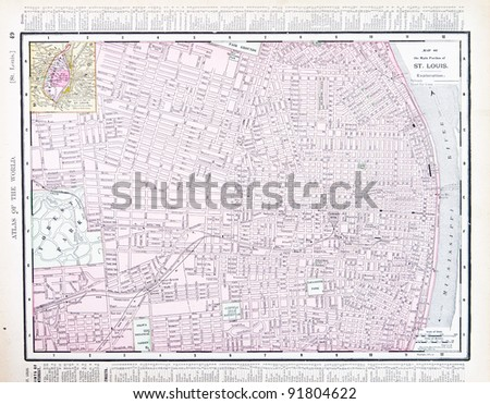 Street Map Philadelphia Pa Usa Spoffords Stock Photo - St louis on us map