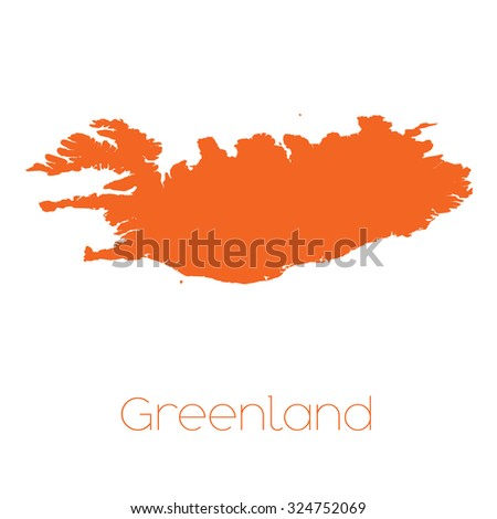 A Map of the country of Greenland