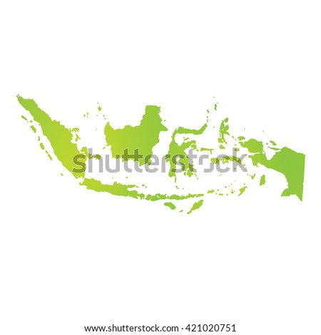 A Map of the country of Indonesia - stock photo