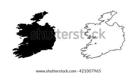 A Map of the country of Ireland - stock photo