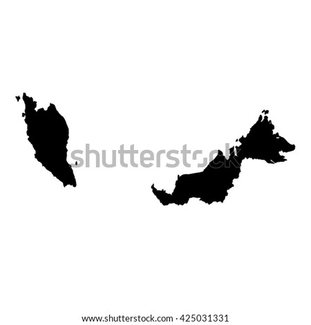A Map of the country of Malaysia - stock photo